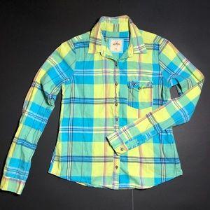 Hollister Plaid  Botton down shirt Sz M